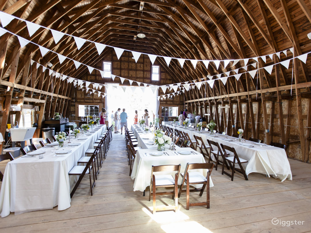 Barn interior (decorated)