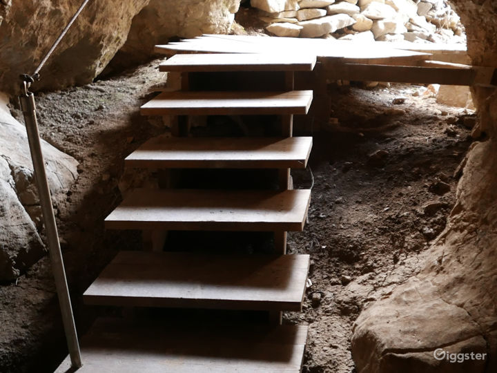 These steps are part of a walk-way through a short section of a cave that passes through a zone of reef that became part of the limestone bedrock.