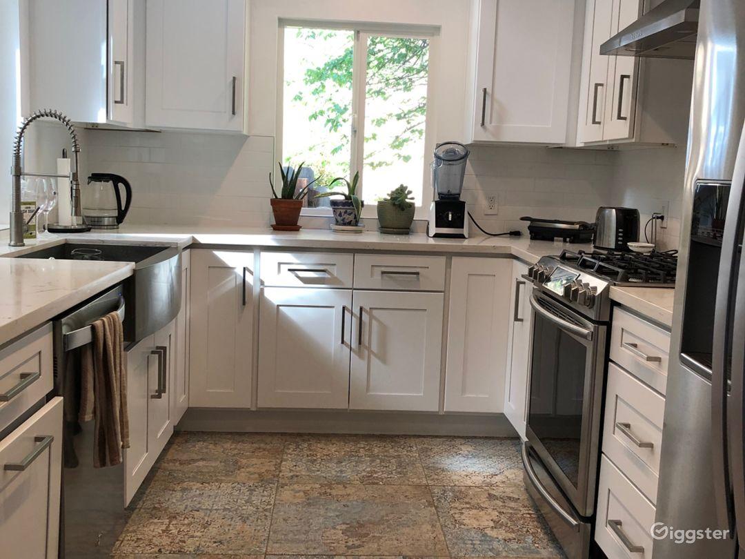 White, bright kitchen