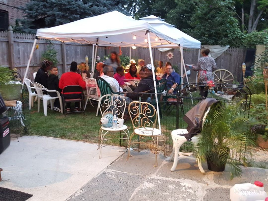 Good size backyard I fit 40 People at this years fish fry.