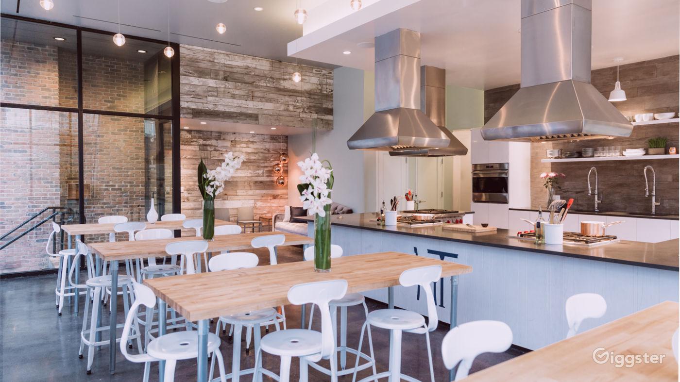 Kitchen Studio with Huge Windows in Hoboken New York Rental