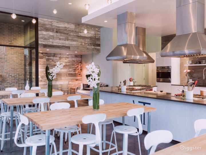 Kitchen Culinary Studio with huge windows