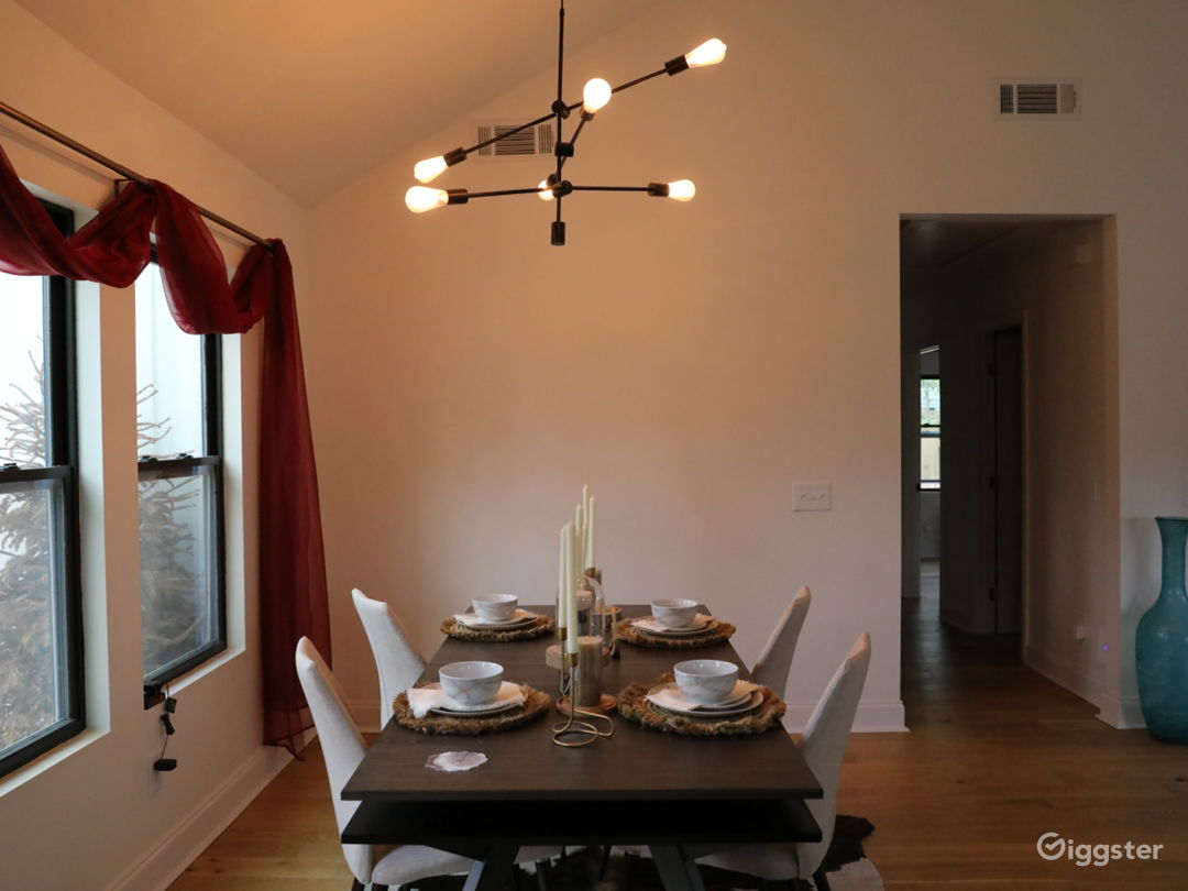 Gorgeous dinning room, with open concept to kitchen and living room.