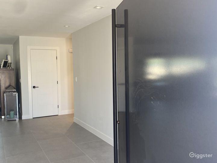 Main entry way, pivot door