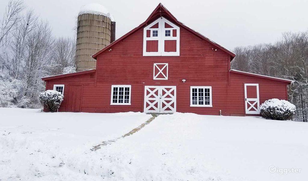 Red Dutch Dairy Barn in Millerton New York Rental