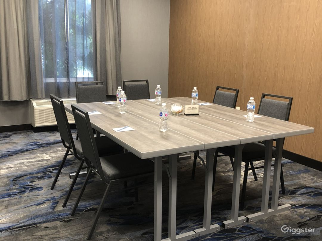 Boardroom setup for 6 pax