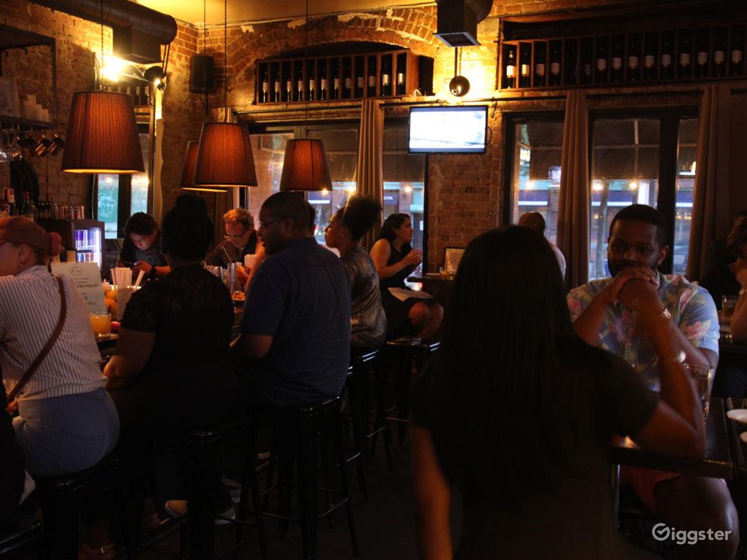 Rustic Exposed Brick Bar/Restaurant w/Street View Photo 4