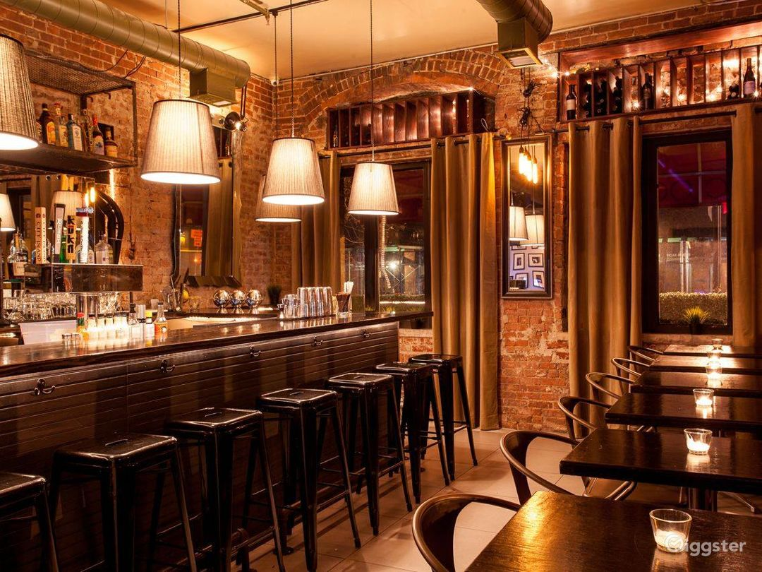Rustic Exposed Brick Bar/Restaurant w/Street View Photo 1