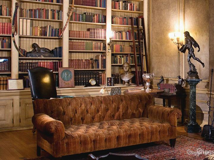Vintage Library w/ Grand Piano Photo 2