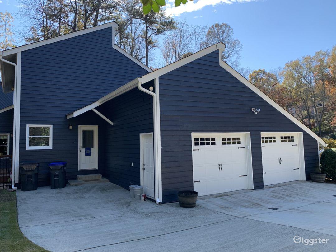 Side of home, garage/driveway (plenty of parking)