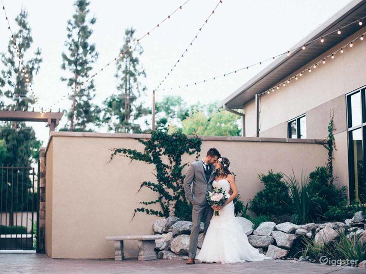 Courtyard with beautiful waterfalls in Fresno Photo 5