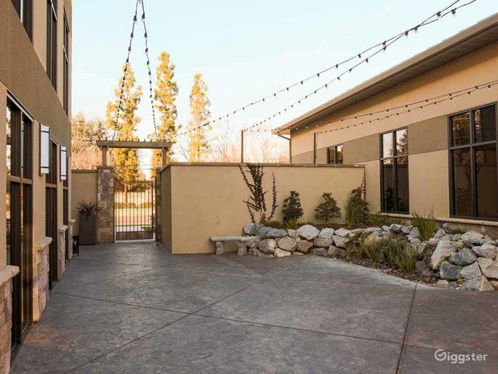 Courtyard with beautiful waterfalls in Fresno Photo 3