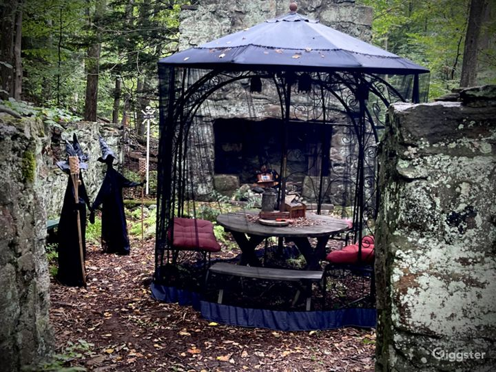 Set up for spooky seance!  Ready for parties and events.