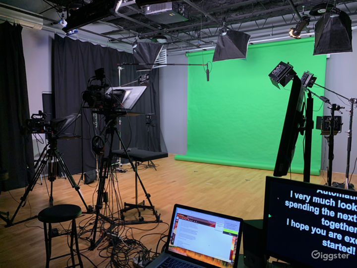 Sonys FS7s, Light Grid, Teleprompters & Audio