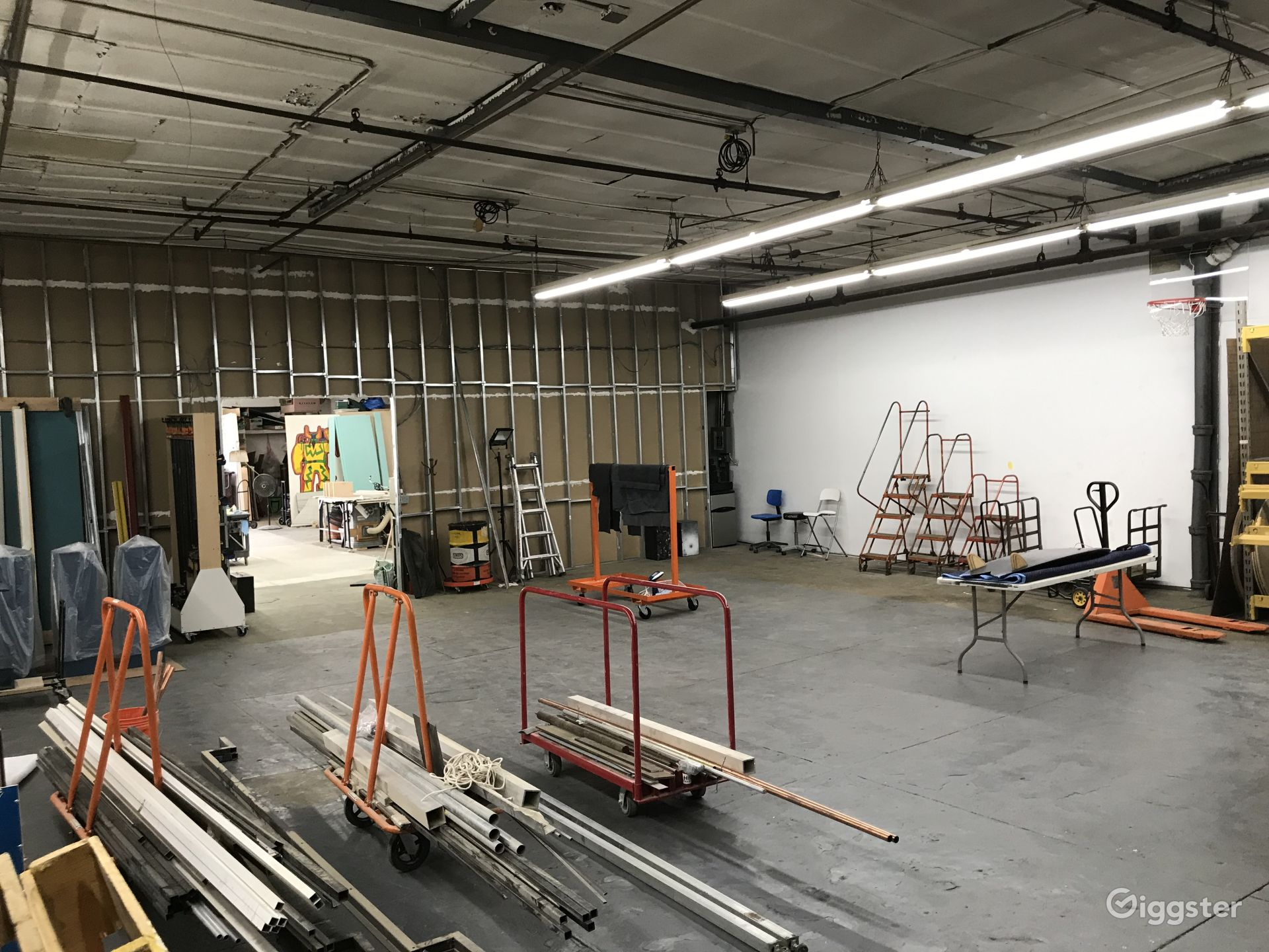 Shoot Space Located Behind Fabrication and Set Design Studio