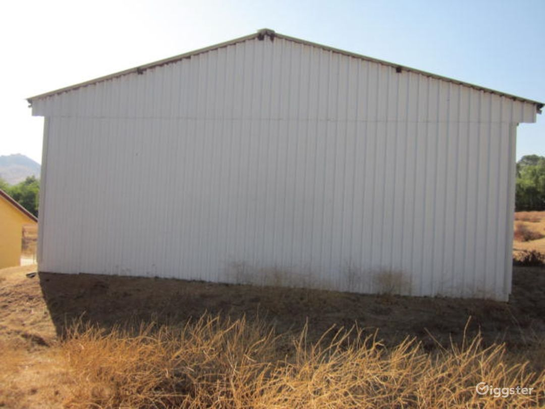 Warehouse,rear view.  Note that all dry vegetation was cleared