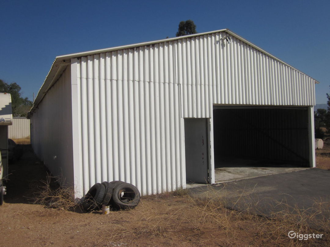 Warehouse front left view. You can dress it anyway you want inside or outside.