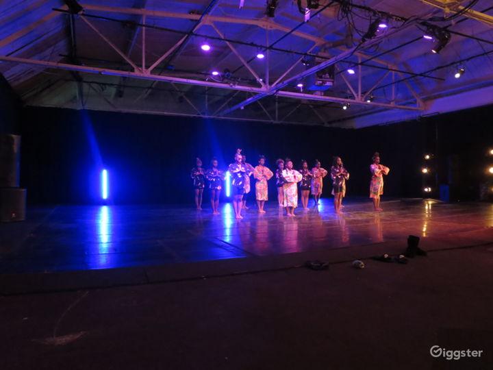 dance floor and lighting use