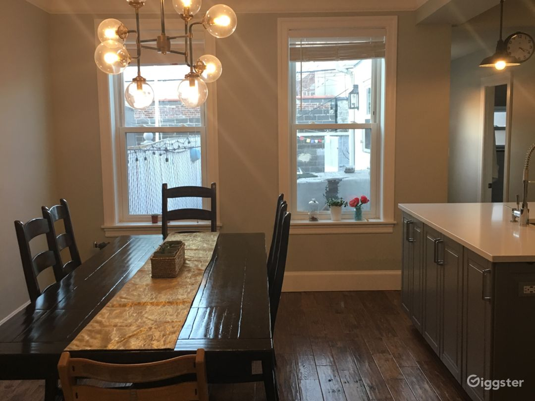Open dining room/kitchen.