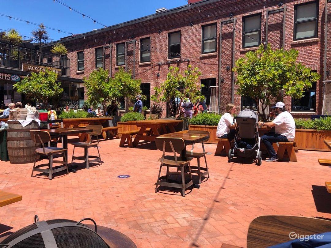 Rustic and Brick Designed Beer Garden in San Francisco Photo 1