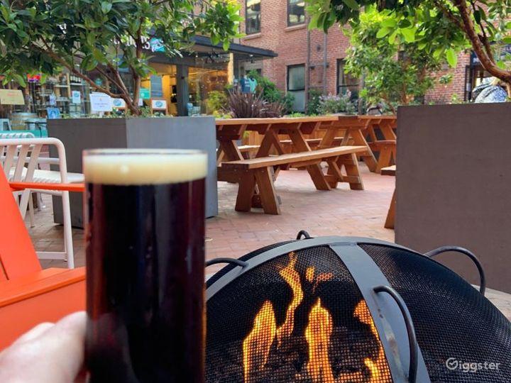 Rustic and Brick Designed Beer Garden in San Francisco Photo 5