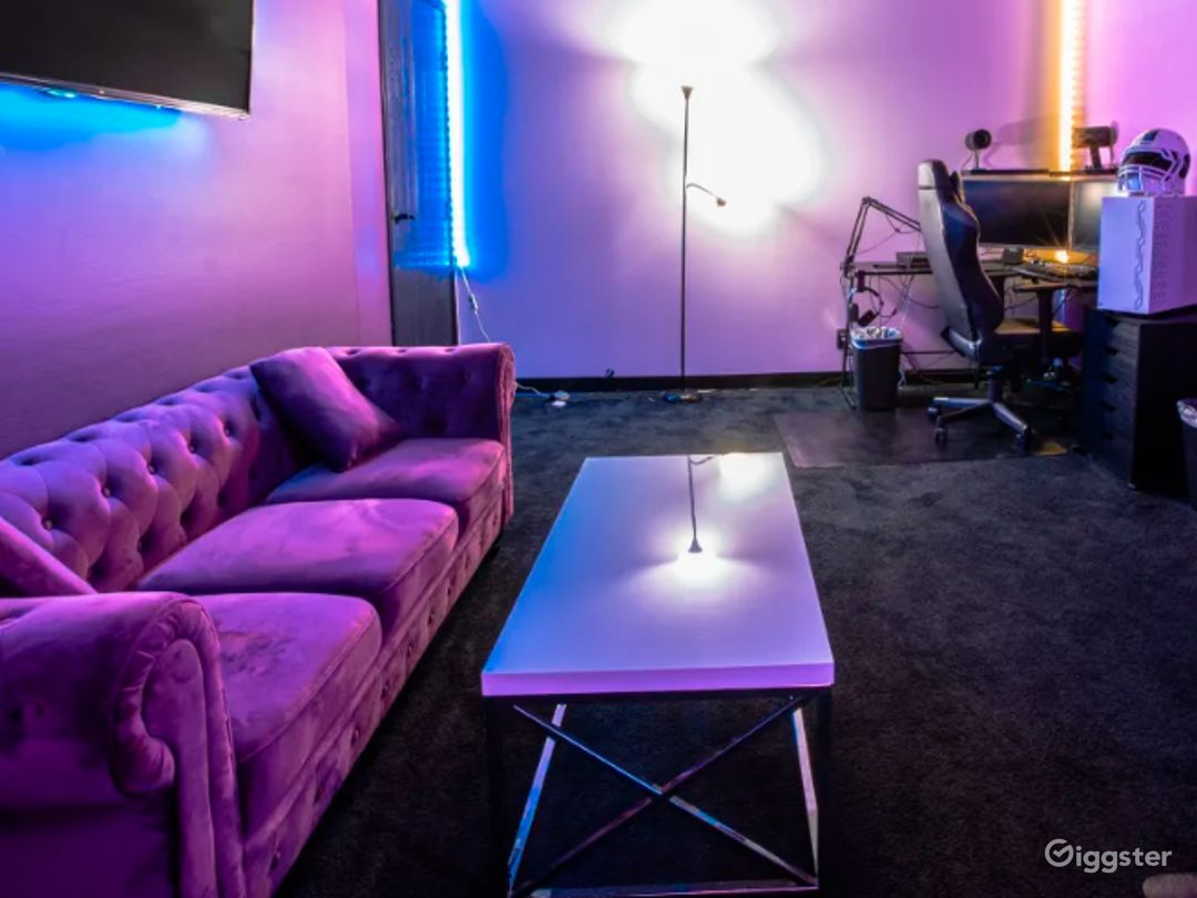 Vibrant Gaming Room for Streaming and Content Creation Photo 1