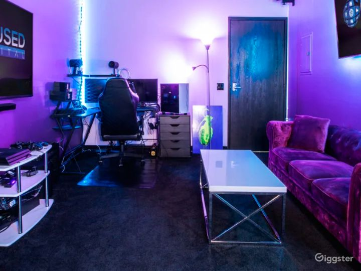 Vibrant Gaming Room for Streaming and Content Creation Photo 2