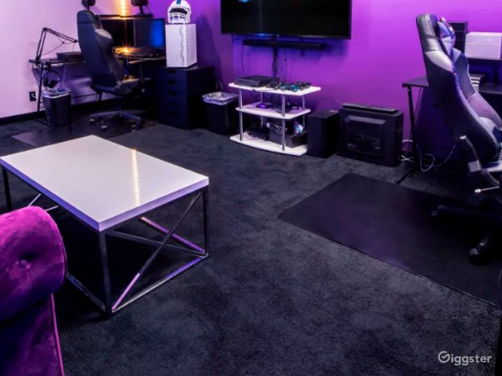 Vibrant Gaming Room for Streaming and Content Creation Photo 3