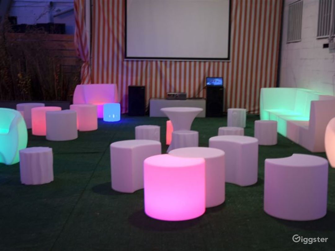 Awesome Patio with Glowing Chairs Photo 1
