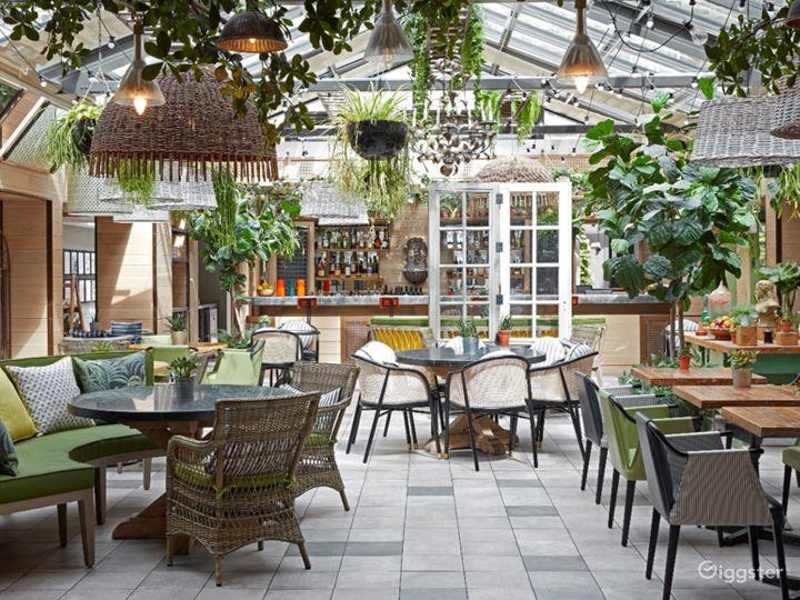 Bright and Airy Garden Restaurant in Edinburgh