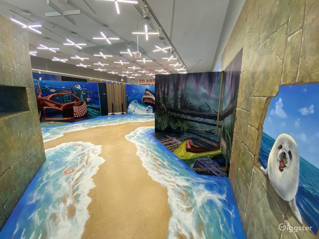 Beautiful Hand Painted Murals -8,000 sqft. Exhibit Photo 1