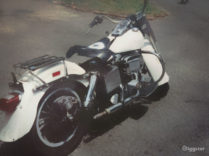 White and Chrome Classic 1979 Harley Davidson FLH Police Special in Miami Photo 4