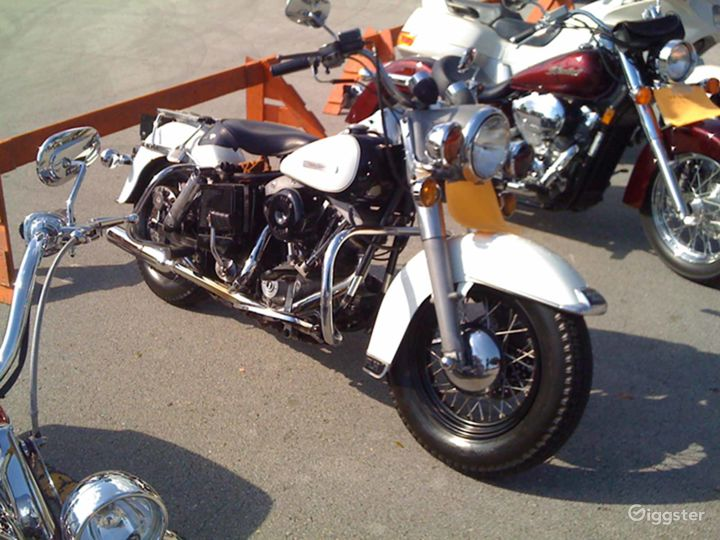 White and Chrome Classic 1979 Harley Davidson FLH Police Special in Miami Photo 2