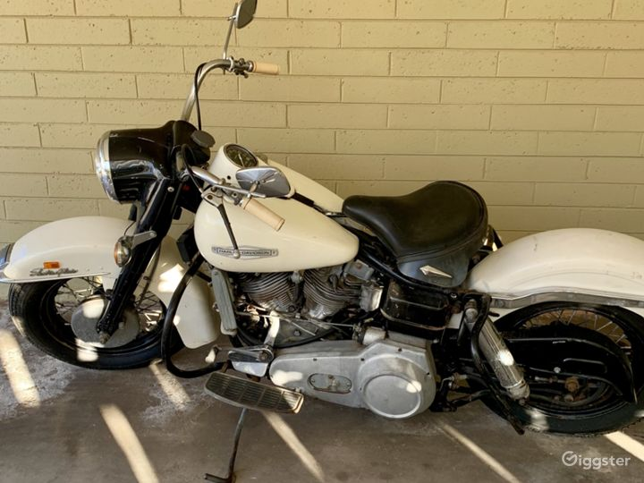 White and Chrome Classic 1979 Harley Davidson FLH Police Special in Miami Photo 3