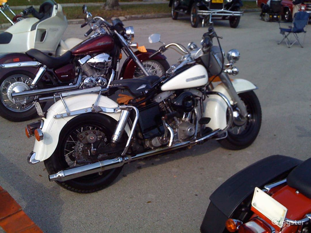 White and Chrome Classic 1979 Harley Davidson FLH Police Special in Miami Photo 1