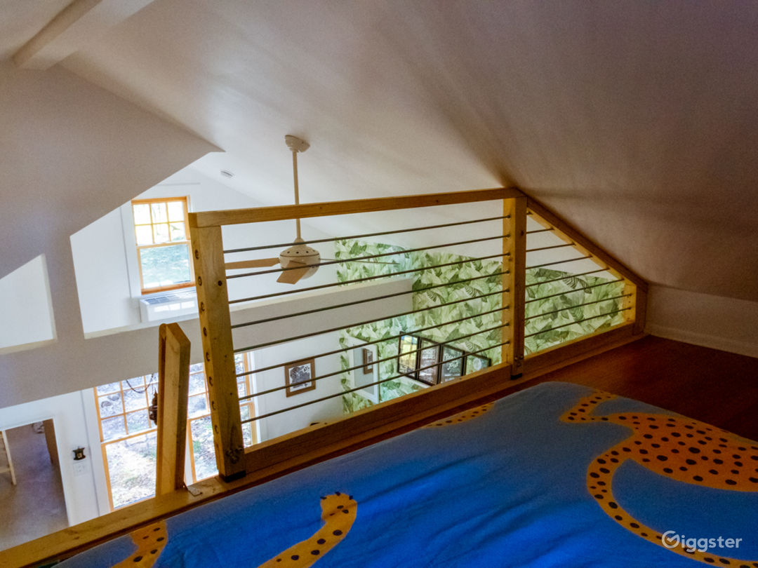 Bedroom 2 and view of loft railing