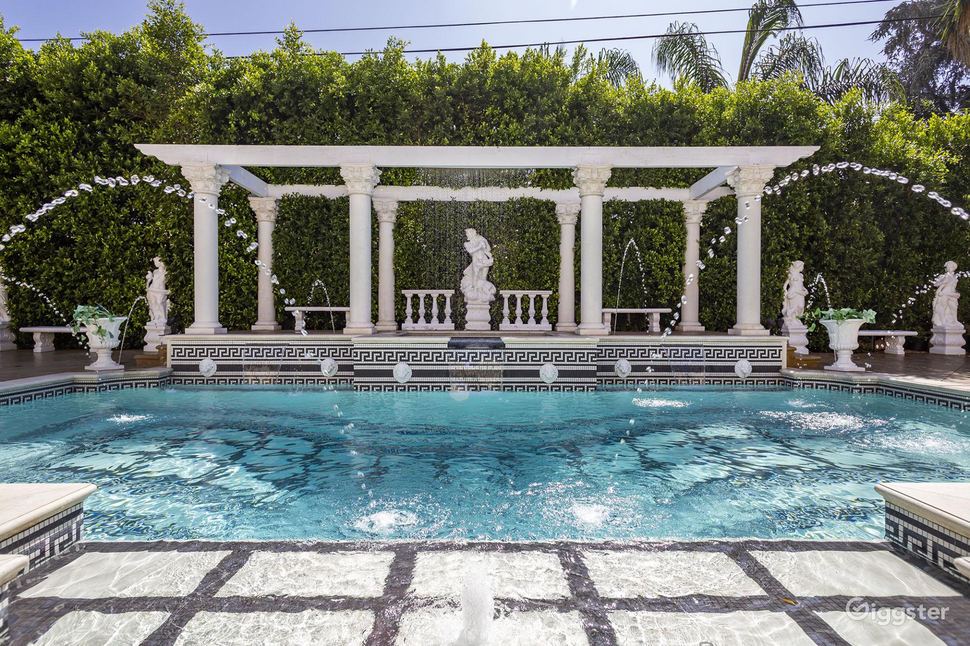 Greco-Roman Style Mansion near Balboa Sports Center Los Angeles Rental
