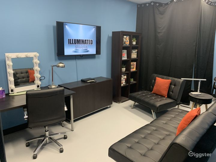 Talent green room with streaming access