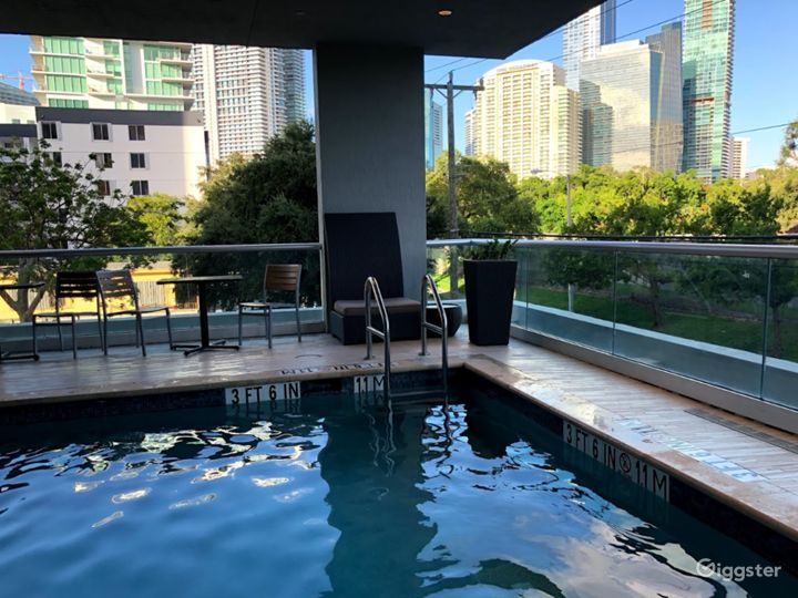 Elevated Pool Area with Balcony in Miami Photo 5