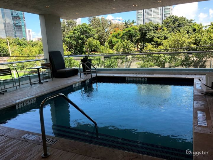 Elevated Pool Area with Balcony in Miami Photo 4