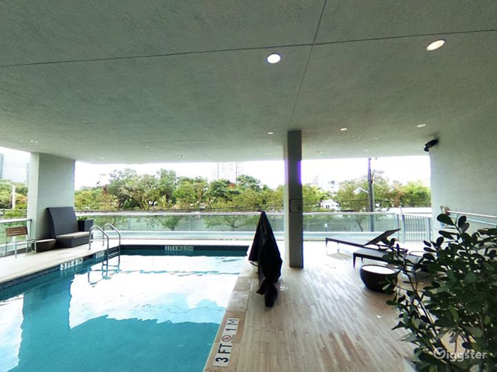 Elevated Pool Area with Balcony in Miami Photo 3