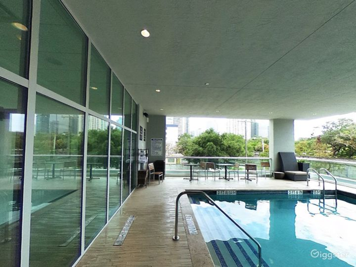 Elevated Pool Area with Balcony in Miami Photo 2