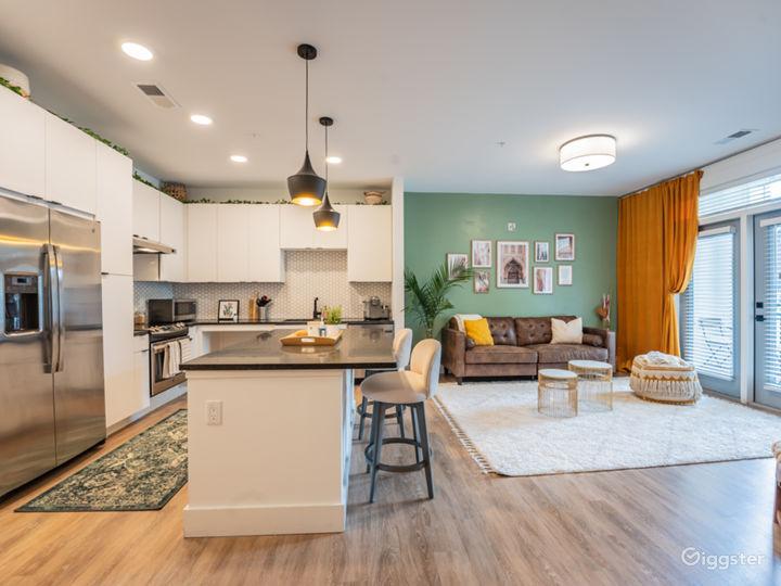 Midtown Bohemian Modern Apartment with Porch Photo 3