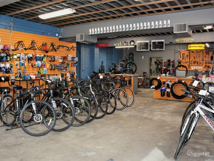 Bike shop retail side looks like a true bike lovers bike shop