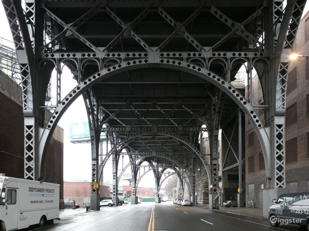Vacant Lot and Roof Along NYC Viaduct Photo 2