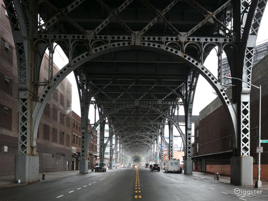 Vacant Lot and Roof Along NYC Viaduct Photo 4