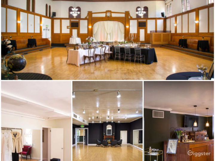 Historical Spacious Ballroom with Additional Rooms and Lobby