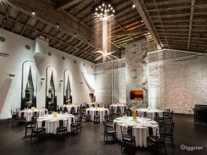 Modern Ballroom with Fireplace Photo 4