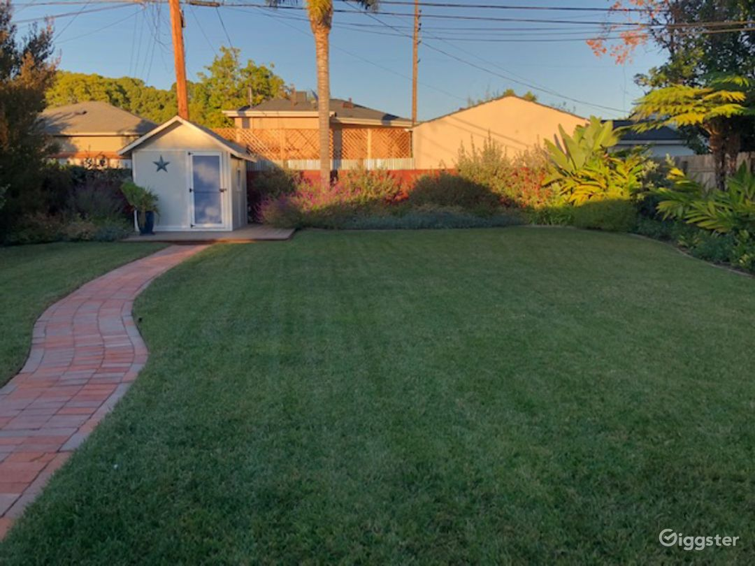 Partial view of backyard.