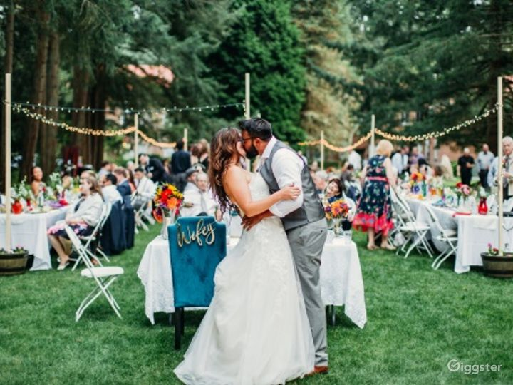 Event Space Canopied by Evergreen Trees Photo 2